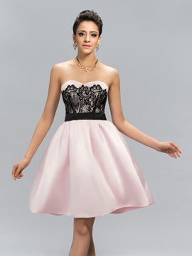 Stylish Sweetheart Lace Short Cocktail Dress Designed & Cocktail Dresses for less