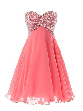 Sweetheart Sequined Beading Watermelon Homecoming Dress & Cocktail Dresses from china
