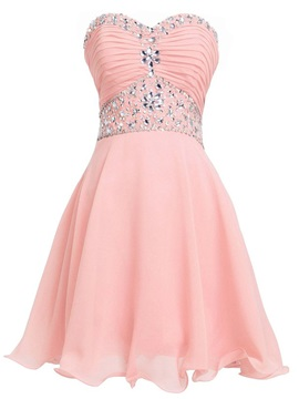 Stunning Sweetheart Beading Pleats Homecoming Dress & Cocktail Dresses online