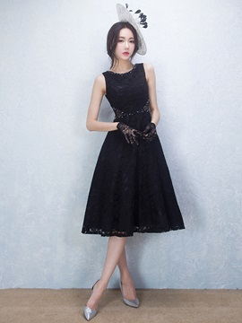 Cool Straps Beading Black Lace Cocktail Dress & fairy Cocktail Dresses