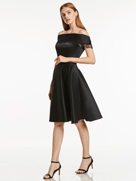 Off-the-Shoulder Zipper-Up A Line Homecoming Dress & Cocktail Dresses under 300