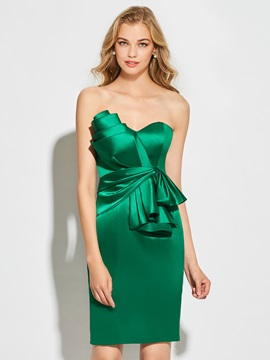 Fancy Sweetheart Sheath Pleats Short Cocktail Dress & Cocktail Dresses for less