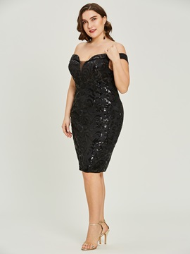 Sequins Sheath Off-the-Shoulder Cocktail Dress & Cocktail Dresses under 300
