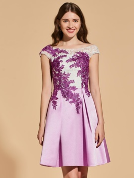 A-Line Empire Lace Appliques Cocktail Dress & colorful Cocktail Dresses