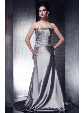 Elegant Trumpet Strapless Beading Lace-up Taline's Long Evening Dress & Evening Dresses for less