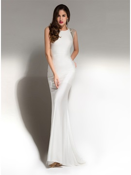 Sparking Bateau Neckline Sheath Beading Long Evening Dress & Evening Dresses 2012