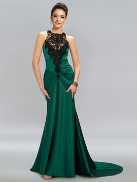 Elegant Appliques Sequins Backless Long Evening Dress Designed & Evening Dresses for sale