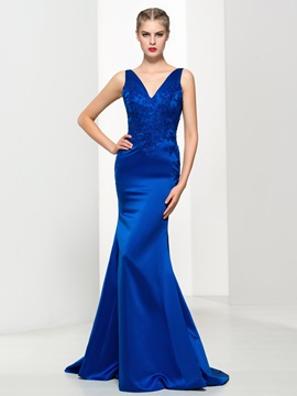 Timeless V-Neck Appliques Mermiad Evening Dress & cheap Evening Dresses