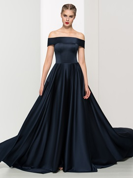 Timeless Off the Shoulder A-Line Long Evening Dress & Evening Dresses under 100