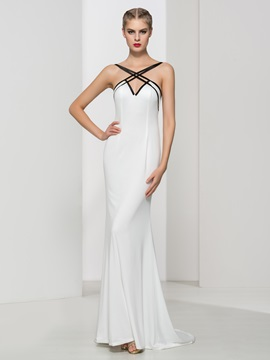 Spaghetti Straps Long Sheath Evening Dress & attractive Evening Dresses