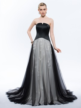 Vintage Strapless Appliques Tulle Evening Dress & vintage style Evening Dresses