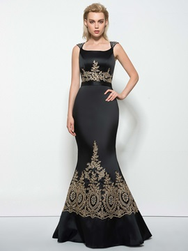 Square Neck Beading Sequins Appliques Mermaid Evening Dress & vintage Evening Dresses