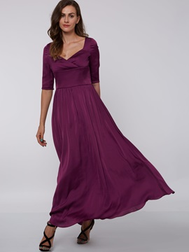 Simple Half Sleeves Ankle-Length Evening Dress