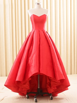 Vintage A-Line Sweetheart Pleats Asymmetry Evening Dress & Evening Dresses 2012
