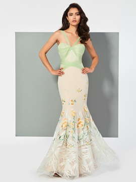 Charming Mermaid Straps Lace Floor-Length Evening Dress & Evening Dresses on sale