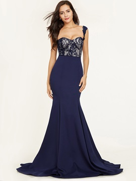 Straps Zipper-Up Lace Mermaid Evening Dress & Evening Dresses from china