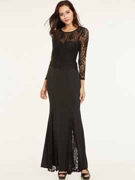 Scoop Neck Backless Lace Evening Dress & fairy Evening Dresses