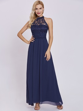 Elegant Halter Neck Zipper-Up A Line Evening Dress & Evening Dresses from china