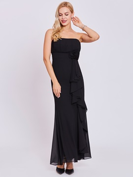 Elegant Strapless Flower Sheath Evening Dress & Evening Dresses under 300