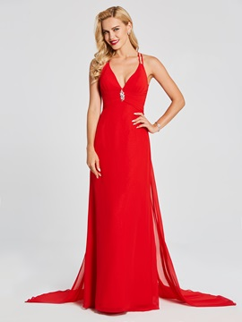 A-Line Hollow Spaghetti Straps Sleeveless Evening Dress & formal Evening Dresses