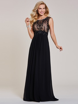 Scoop Neck Beaded Lace A Line Evening Dress & fairytale Evening Dresses