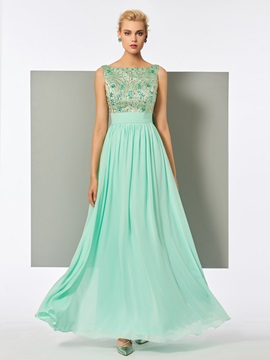 Charming A-Line Bateau Beadings Lace Evening Dress & Evening Dresses for sale