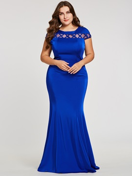 Scoop Neck Cap Sleeves Mermaid Evening Dress & Evening Dresses 2012