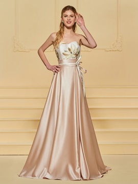 A-Line Printed Sashes Sweetheart Evening Dress & Evening Dresses online