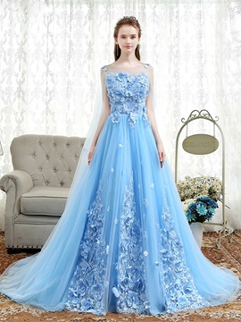 A-Line Appliques Pearls FlowersEvening Dress & Evening Dresses from china
