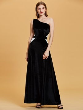 One Shoulder Sequins A-Line Evening Dress & Evening Dresses online