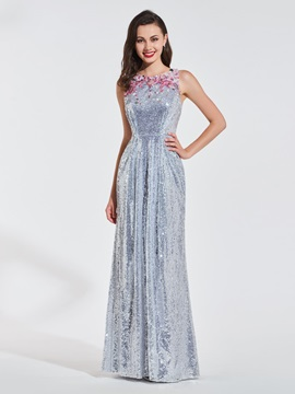 Sheath Scoop Appliques Sequins Evening Dress & Evening Dresses under 500