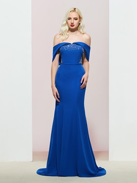 Trumpet Off-The-Shoulder Floor-Length Evening Dress 2019