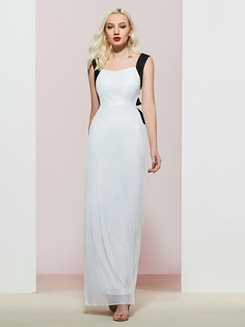 Sheath Floor-Length Straps Sleeveless Evening Dress 2019
