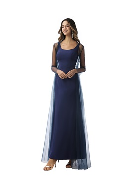Straps Sheath Evening Dress with Long Sleeves Jacket