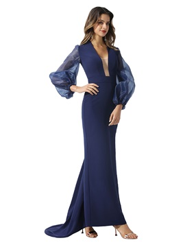 Puff Long Sleeves Sheath Evening Dress 2020 & Evening Dresses from china