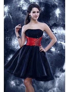 Glamorous Beading A-line Strapless Sandra's Short Sweet 16 Dress & vintage Prom Dresses