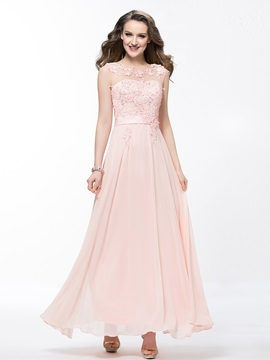 Awesome Scoop Neckline Lace Appliques Sequins Pearls Long Prom Dress & vintage Prom Dresses