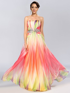 Modern Sweetheart Sequins Beading A-Line Floor-Length Prom Dress & colored Prom Dresses