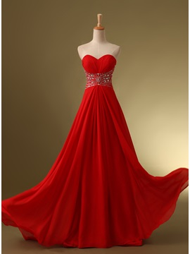 Tidebuy Stunning Sweetheart Sequins Beading Sweep Train Long Prom Dress & Prom Dresses under 500