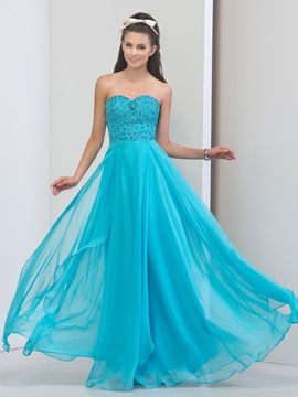 Shining Sweetheart Beaded Crystal Long Prom Dress & Prom Dresses for less