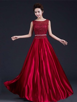 Pretty Scoop Neck Beading Lace Prom Dress & Prom Dresses under 100