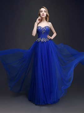 A-Line Sweetheart Beading Lace Prom Dress & inexpensive Prom Dresses