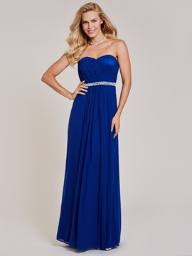 Sweetheart Beaded Pleats A Line Evening Dress & attractive Prom Dresses