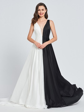 A-Line V-Neck Multi Color Prom Dress & Prom Dresses for less