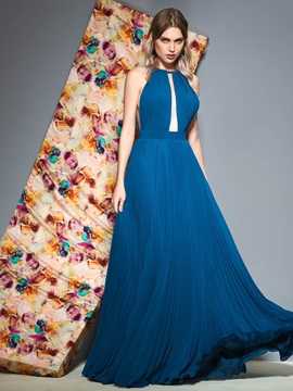 Sleeveless A-Line Pleats  Prom Dress & simple Prom Dresses