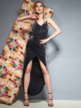 Sheath Knee-Length Draped Sleeveless Prom Dress