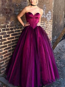 Sweetheart Ball Gown Long Prom Dress 2019