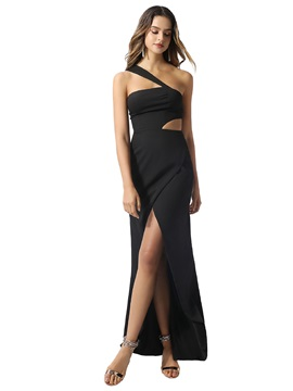 Sexy One Shoulder Split-Front Sheath Prom Dress 2020 & informal Prom Dresses