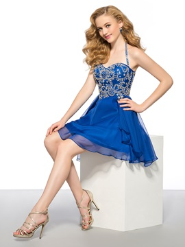 Modern A-Line Rhinestone Halter Short Homecoming Dress & amazing Homecoming Dresses