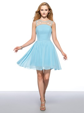 Enchanting A-Line Straps Beading Ruffles Short Homecoming Dress & Homecoming Dresses online